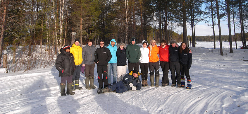 Irish Dive Group in the snow
